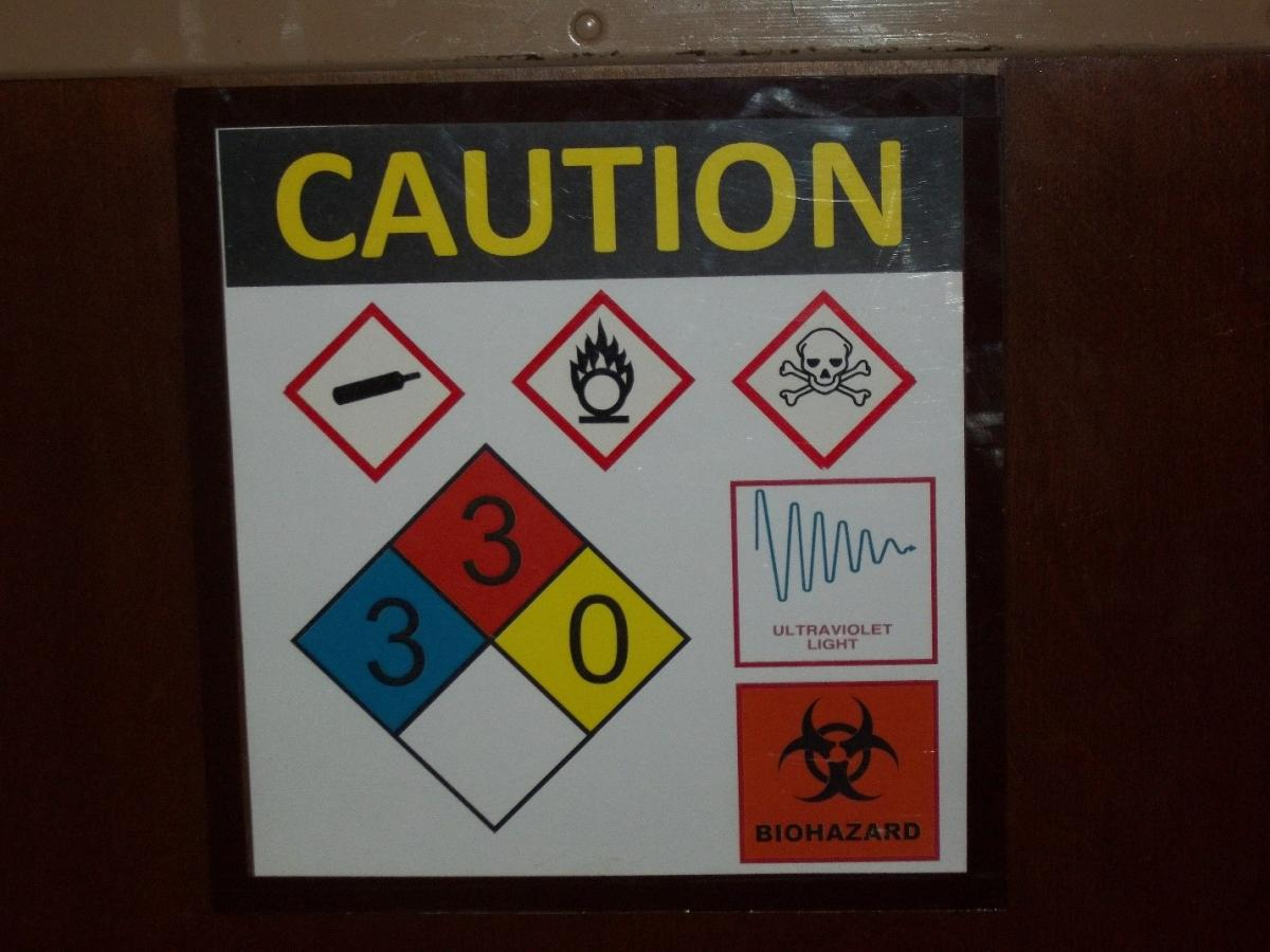OSHA Notice Entrance On Other Side SignHeavy Duty Sign or Label